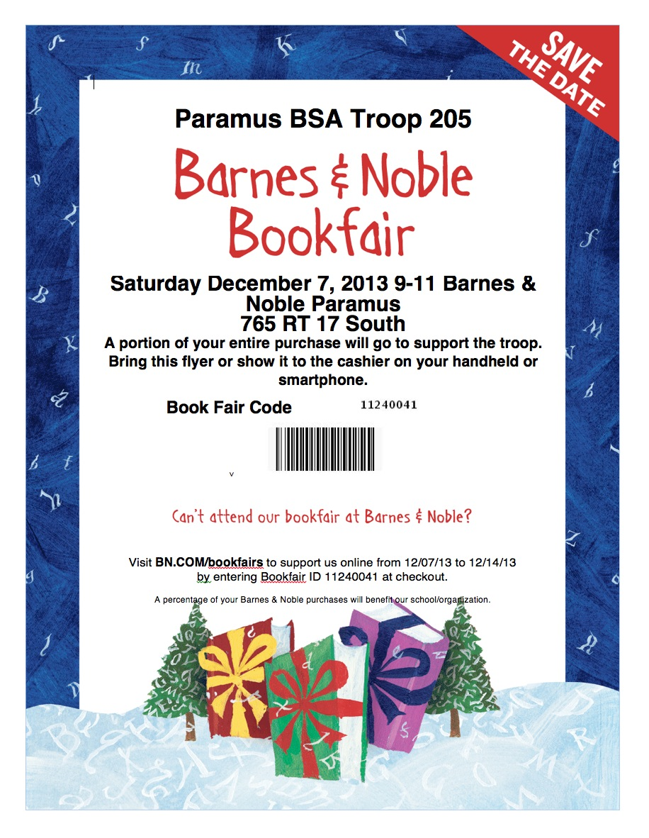 Boy Scout Troop 205 Fund Raiser at Barnes and Noble | Christ in Paramus